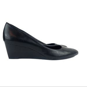 Franco Sarto Leather Wedge Pointed Toe Shoes